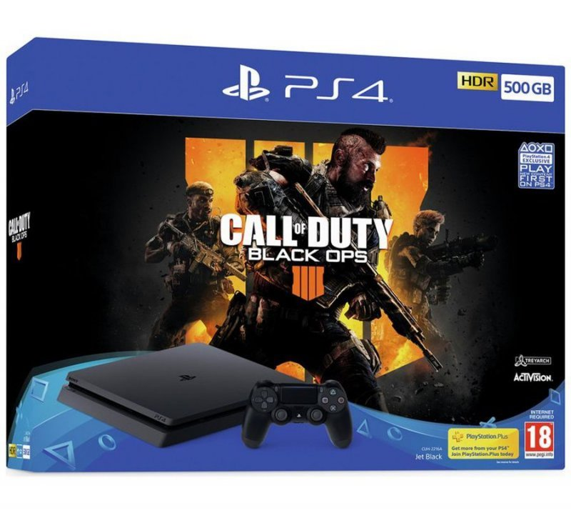 Image of   Playstation 4 Slim 500gb + Black Ops 4 Pakke