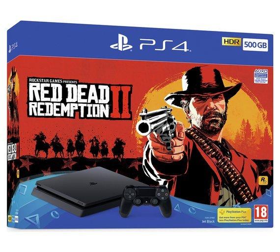 Image of   Playstation 4 Konsol - 500gb Inkl. Red Dead Redemption 2 Spil