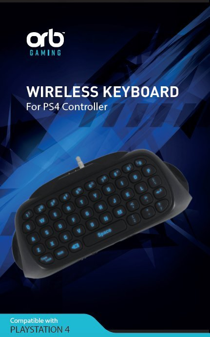 Image of   Playstation 4 - Controller Keyboard Til Ps4 - Sort Blå