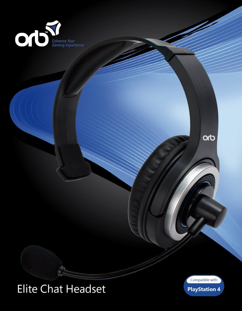 Playstation 4 - Elite Chat Headset / Høretelefoner - Orb
