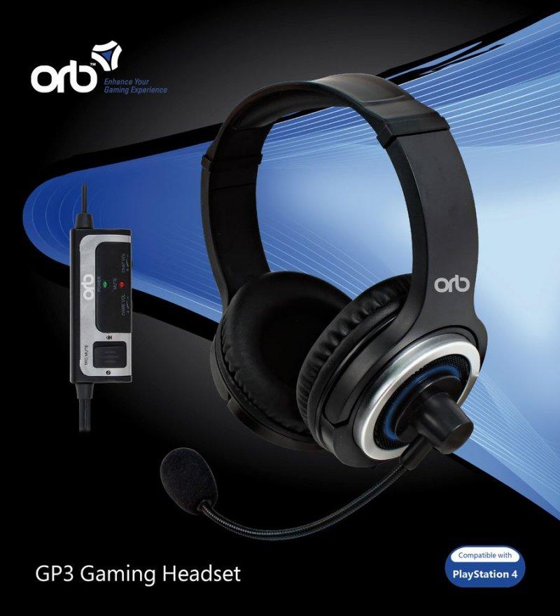 Image of   Orb Gp3 Gamer / Gaming Headset Til Playstation 4 / Ps4