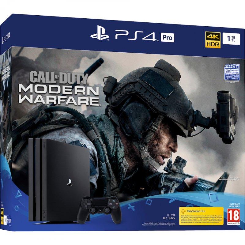 Image of   Playstation 4 Pro - 1tb - Call Of Duty: Modern Warfare - Uk