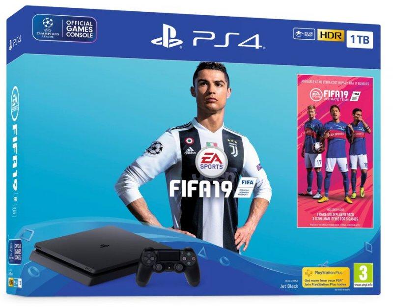Image of   Playstation 4 Slim 1tb + Fifa 19 Pakke
