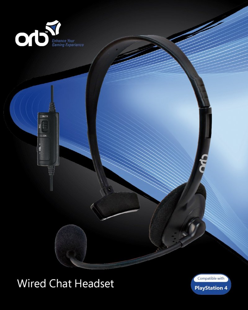 Image of   Orb Headset / Høretelefoner Til Playstation 4 / Ps4