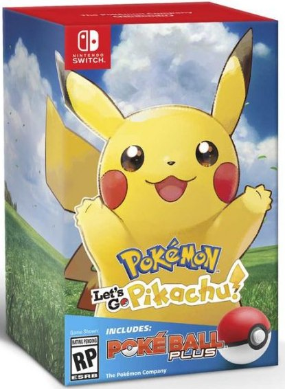 Image of   Pokemon Lets Go Pikachu! + Poke Ball Plus - Nintendo Switch