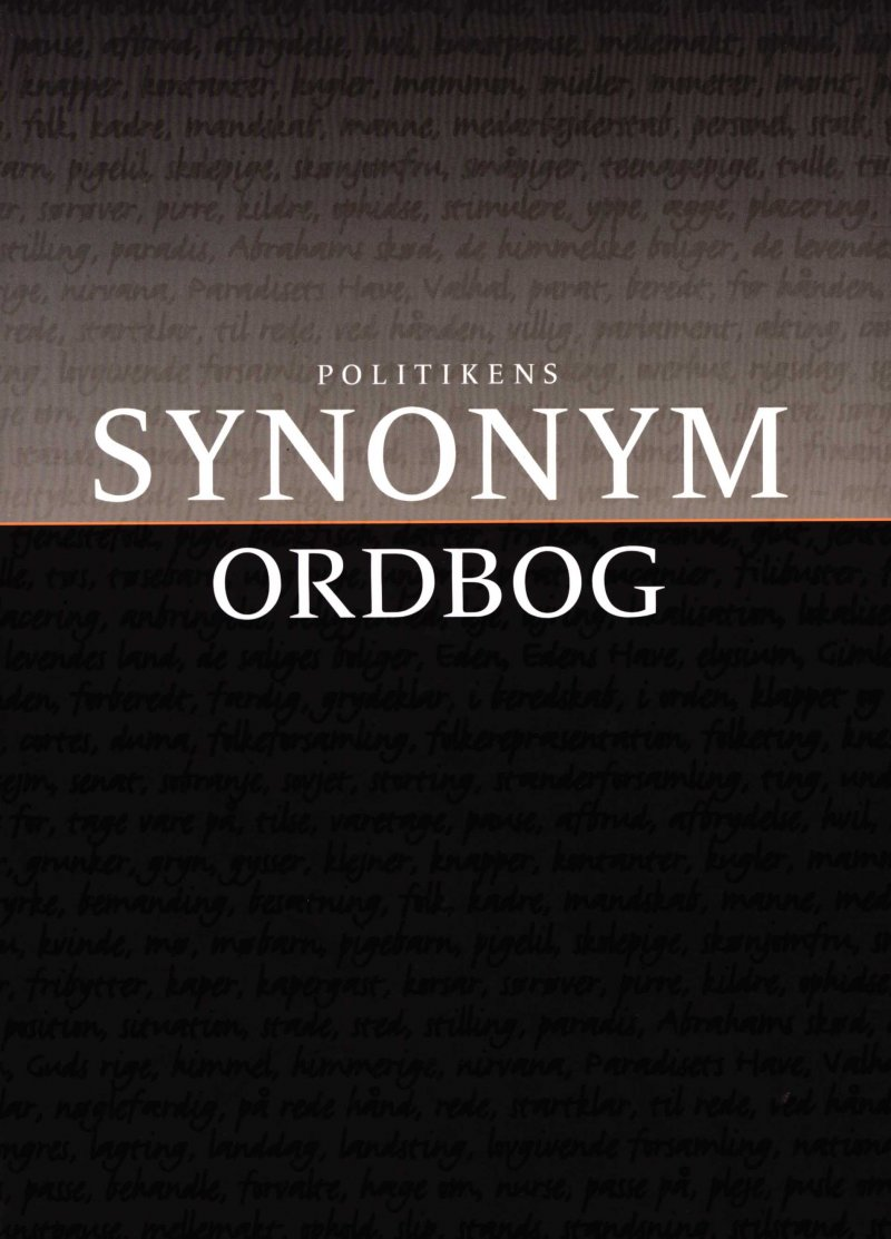 Image of   Politikens Synonymordbog - Jørgen Nørby Jensen - Bog
