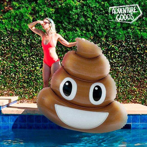 Image of Poo Emoji Luftmadras Til Pool