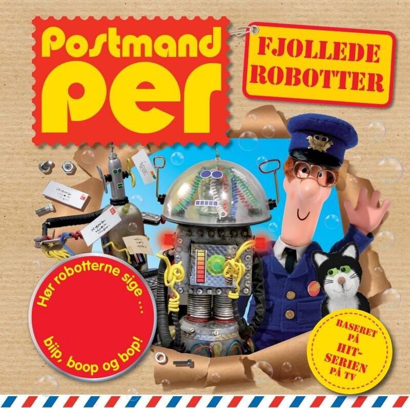 Postmand Per - Fjollede Robotter - Lydknapbog - Forlaget Buster Nordic - Bog
