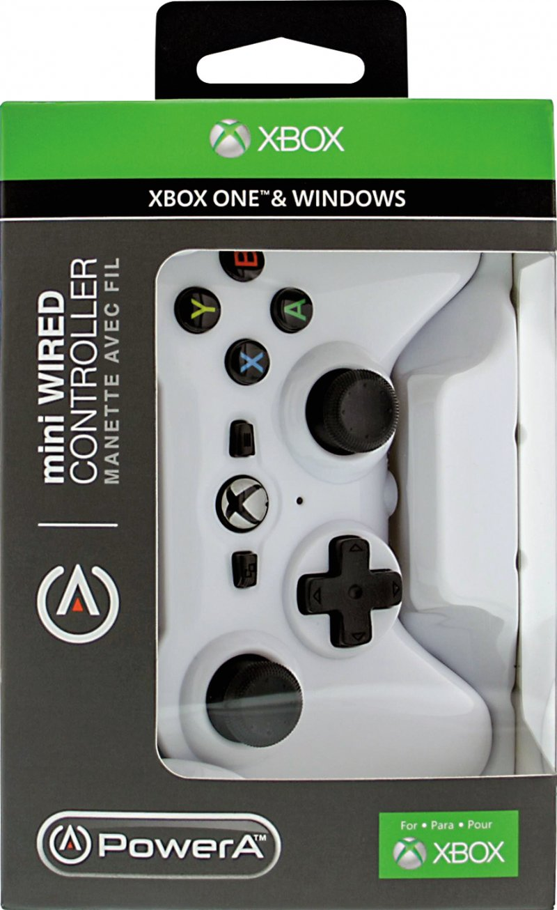 Image of   Powera - Mini Controller Med Kabel Til Xbox One Og Pc - Hvid