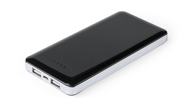 Image of   Powerbank 10000 Mah Med 2 Usb Porte - Sort
