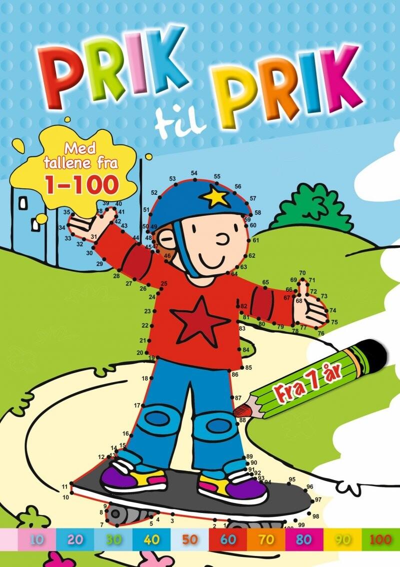 Prik Til Prik - Med Tallene Fra 1-100 - Skater - Diverse - Bog