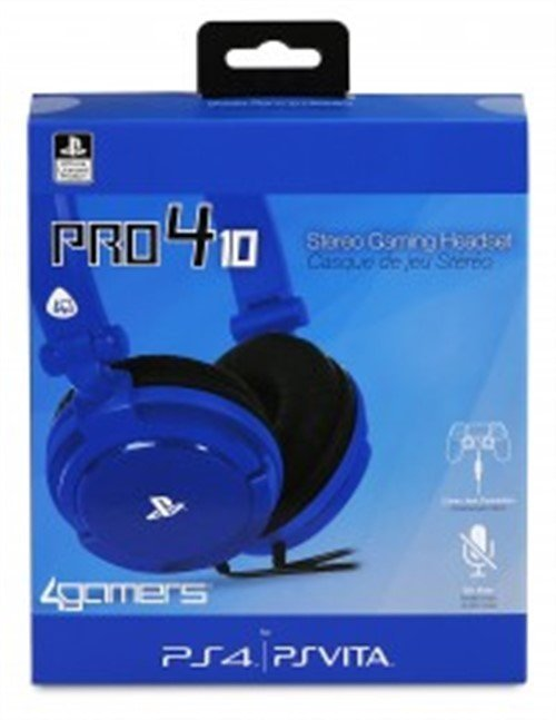 Image of   4gamers - Stereo Gaming Headset Til Sony Ps4 - Pro4-10 - Blå