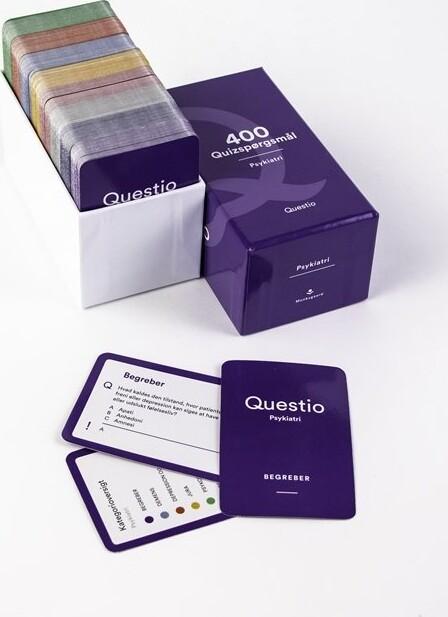 Image of   Questio - Psykiatri Med 400 Quizspørgsmål