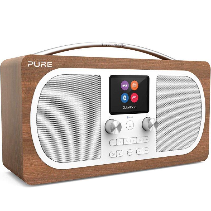 Image of   Pure - Evoke H6 - Radio Med Fm Dab+ Aux Mp3 Bluetooth - Brun