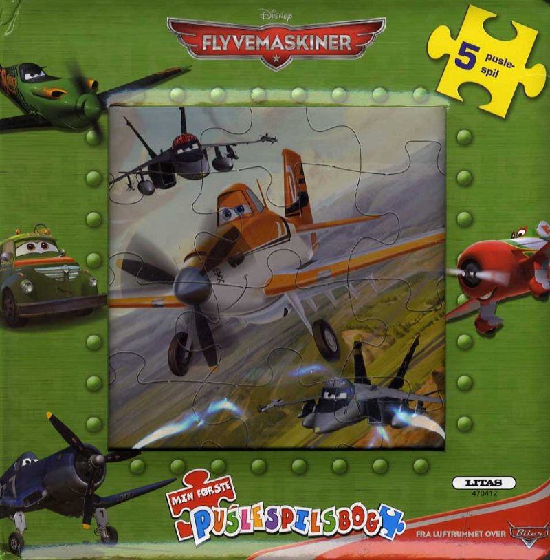 Billede af Puslespilsbog - Planes / Flyvemaskiner - Bog
