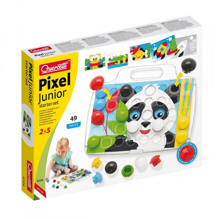 Image of   Quercetti - Pixel Junior Starter Set - Fantacolour