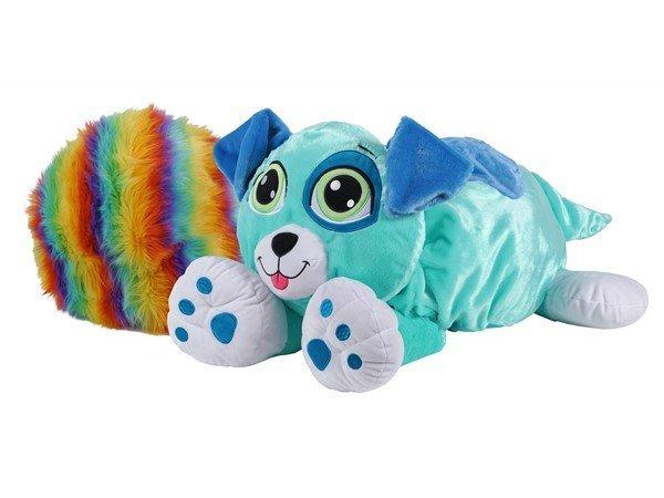 Rainbow Fluffies - Stor Bamse - Blå Hund