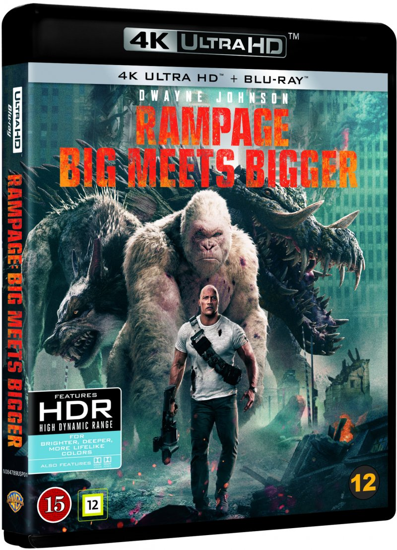 Image of   Rampage - Out Of Control - 2018 - 4K Blu-Ray