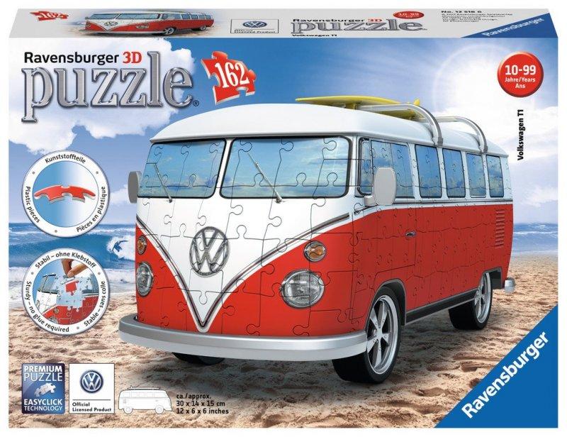 Ravensburger - 3d Puzzle - Vw Bus T1, 162 Pieces