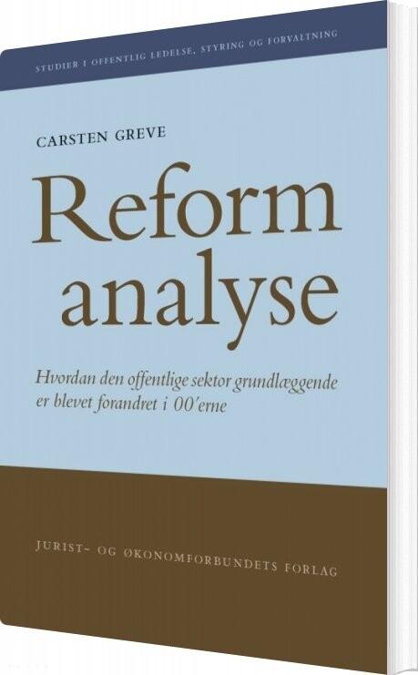 Image of   Reformanalyse - Carsten Greve - Bog