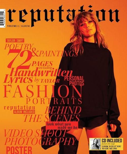 Billede af Taylor Swift - Reputation - Magazine Edition Vol. 1 - CD