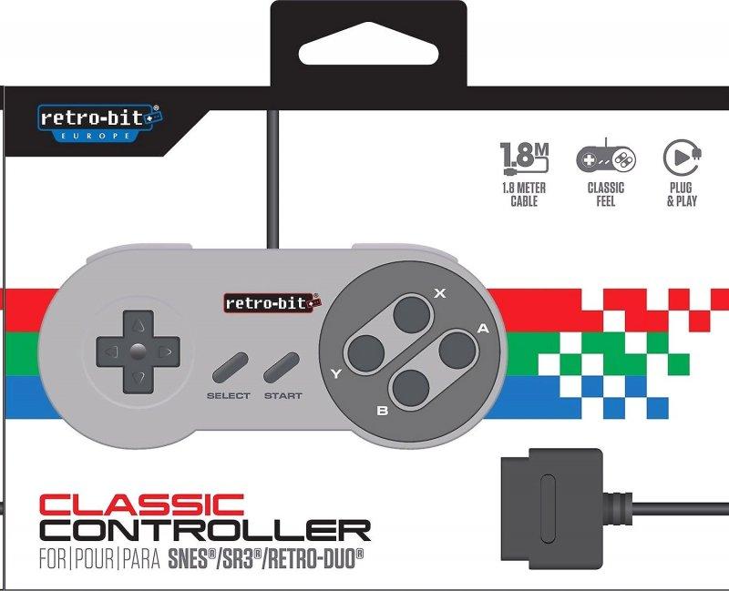 Image of   Retro-bit - Classic 16-bit Gamepad Controller Med Usb Til Pc Og Mac - Grå