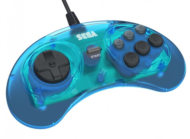 Image of   Retro-bit - Sega Mega Drive Gamepad Controller - Blå