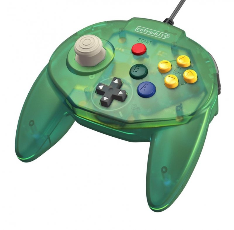Image of   Retro-bit - Tribute 64 - Gamepad Controller Med Usb Til Nintendo 64 - Grøn