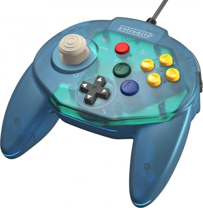 Image of   Retro-bit - Tribute 64 - Gamepad Controller Med Usb Til Nintendo 64 - Blå