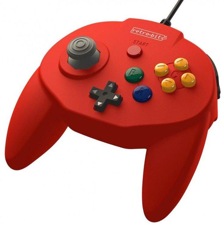 Image of   Retro-bit - Tribute 64 - Gamepad Controller Med Usb Til Nintendo 64 - Rød