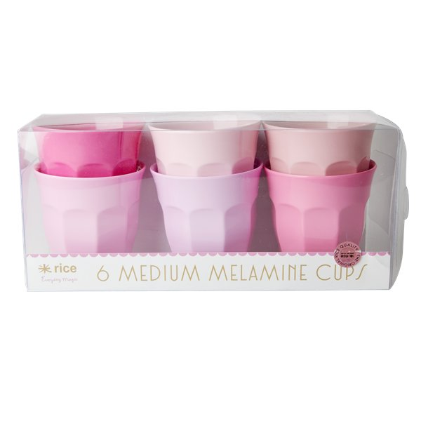 Image of   Rice Medium Melamin Kopper 6 Stk. - 50 Shades Of Pink