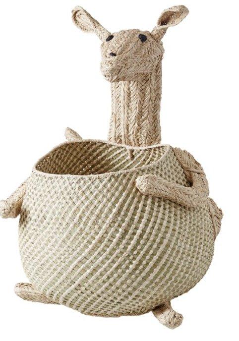 Image of   Rice Kurv Til Legetøj - Vævet Kænguru