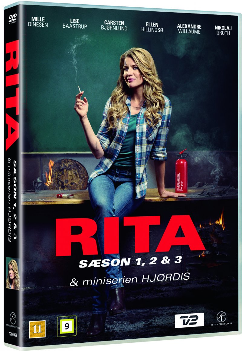 Image of   Rita - Sæson 1-3 + Hjørdis Mini-serie - DVD - Tv-serie
