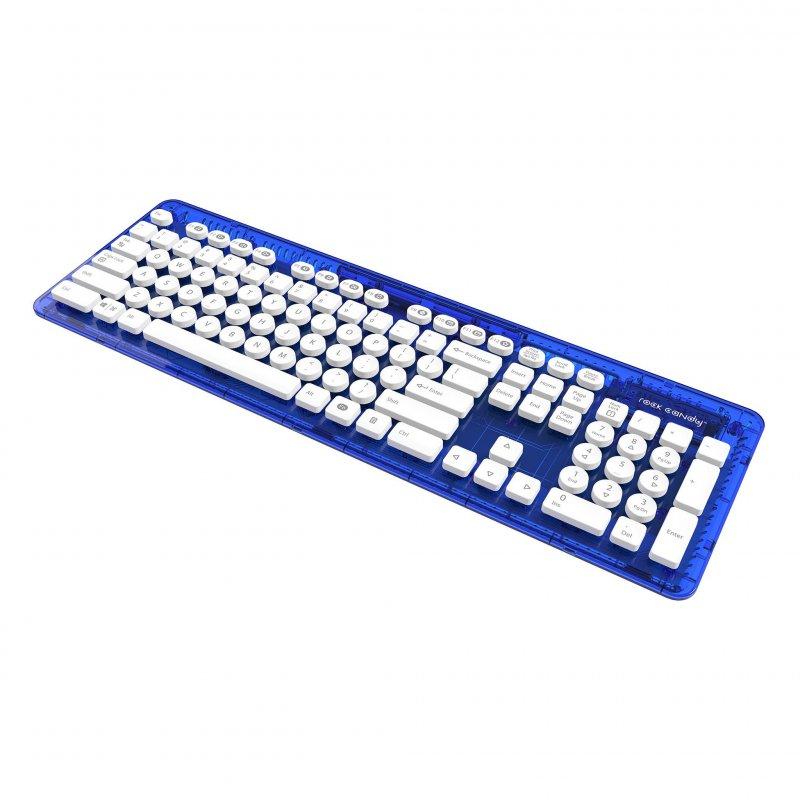 Image of   Rock Candy Trådløs Tastatur - Blueberry Boom Med Nordisk Layout