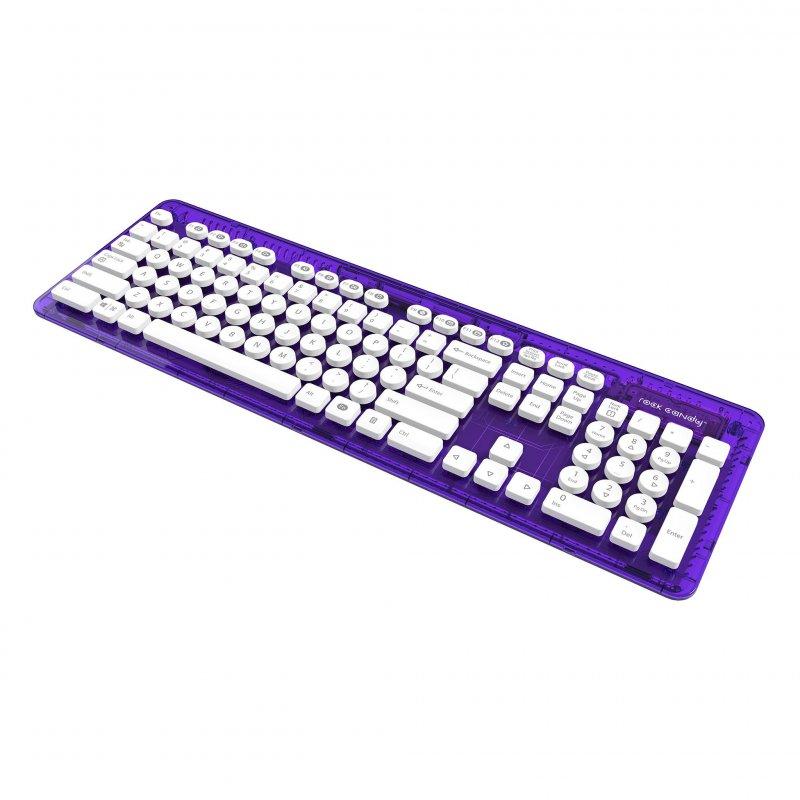 Image of   Rock Candy Trådløs Tastatur - Cosmoberry Med Nordisk Layout