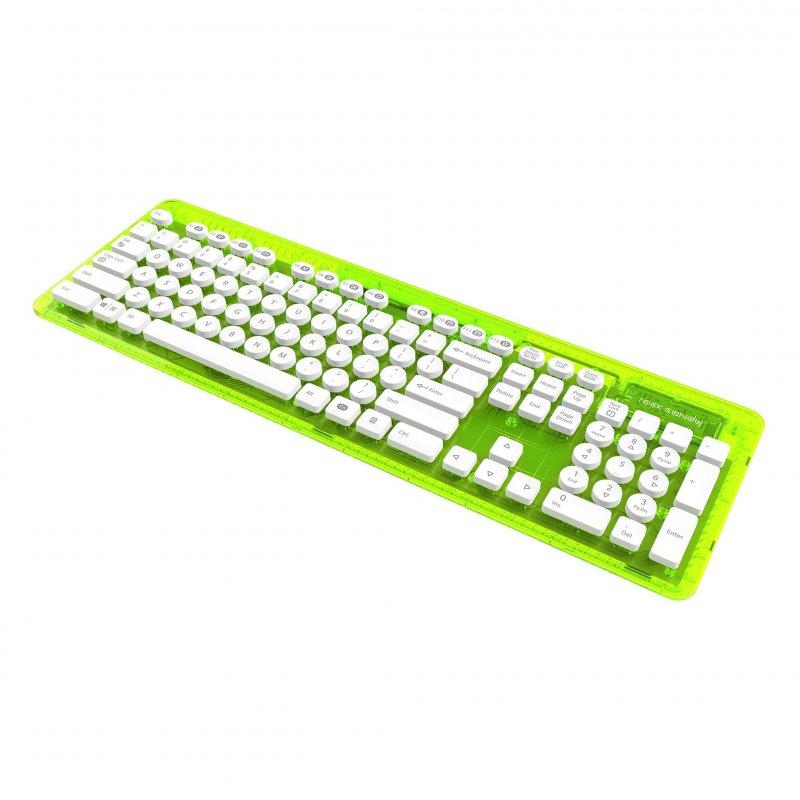 Image of   Rock Candy Trådløs Tastatur - Lalalime Med Nordic Layout