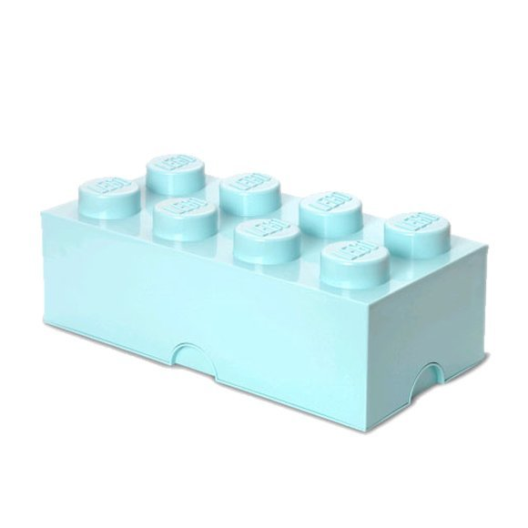 Lego Opbevaringskasse - Brick 8 - Aqua - Room Copenhagen