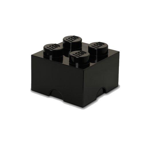 Lego Opbevaringskasse - Brick 4 - Sort - Room Copenhagen