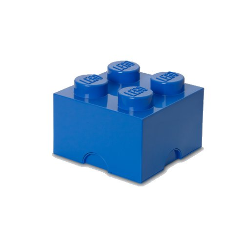 Lego Opbevaringskasse - Brick 4 - Blå - Room Copenhagen