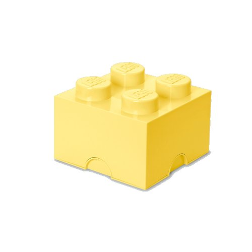 Lego Opbevaringskasse - Brick 4 - Lys Gul - Room Copenhagen