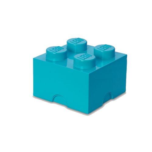 Image of   Lego Opbevaringskasse - Brick 4 - Azurblå - Room Copenhagen
