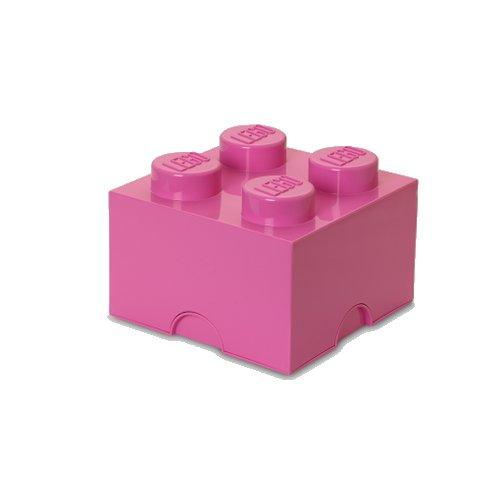 Lego Opbevaringskasse - Brick 4 - Pink - Room Copenhagen