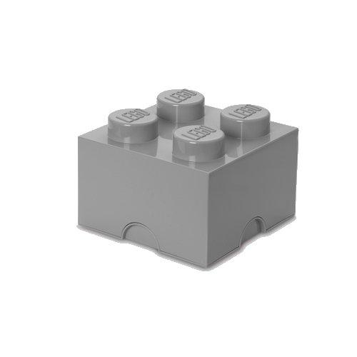 Lego Opbevaringskasse - Brick 4 - Grå - Room Copenhagen