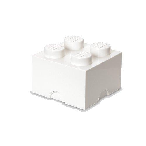 Lego Opbevaringskasse - Brick 4 - Hvid - Room Copenhagen