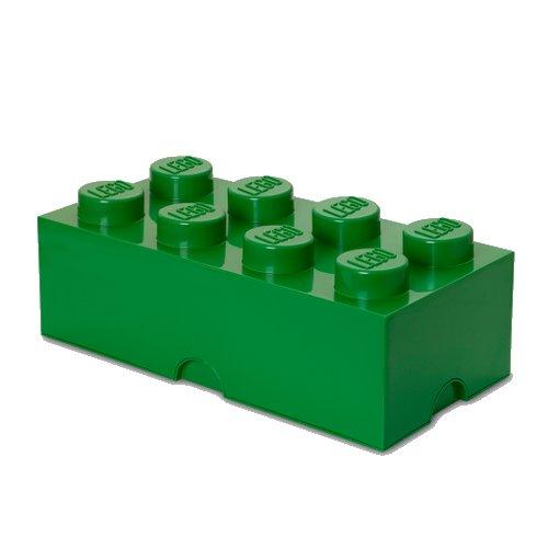 Lego Opbevaringskasse - Brick 8 - Mørkegrøn - Room Copenhagen