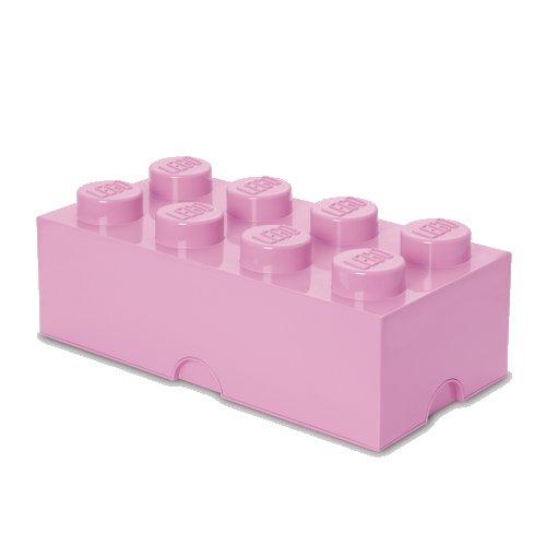 Lego Opbevaringskasse - Brick 8 - Lys Lilla - Room Copenhagen