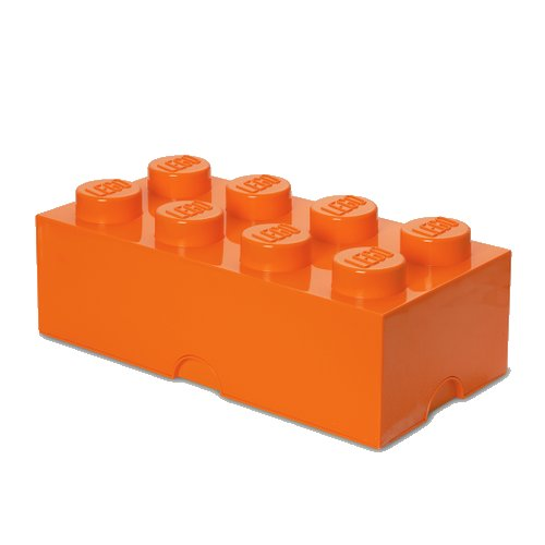 Lego Opbevaringskasse - Brick 8 - Orange - Room Copenhagen