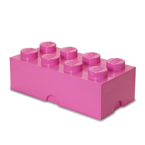 Lego Opbevaringskasse - Brick 8 - Pink - Room Copenhagen