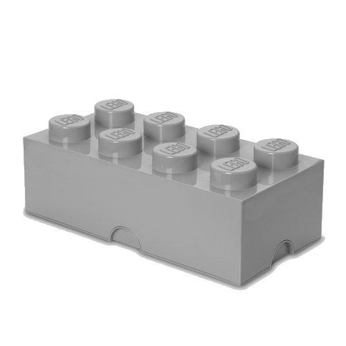 Lego Opbevaringskasse - Brick 8 - Grå - Room Copenhagen