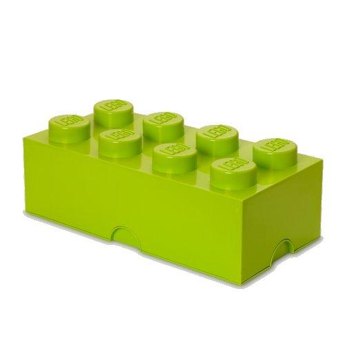 Lego Opbevaringskasse - Brick 8 - Neongrøn - Room Copenhagen